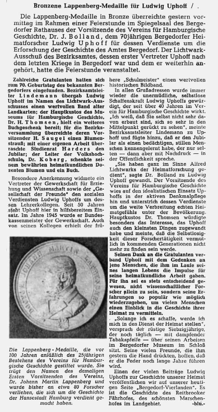 Bergedorfer Zeitung von 1964